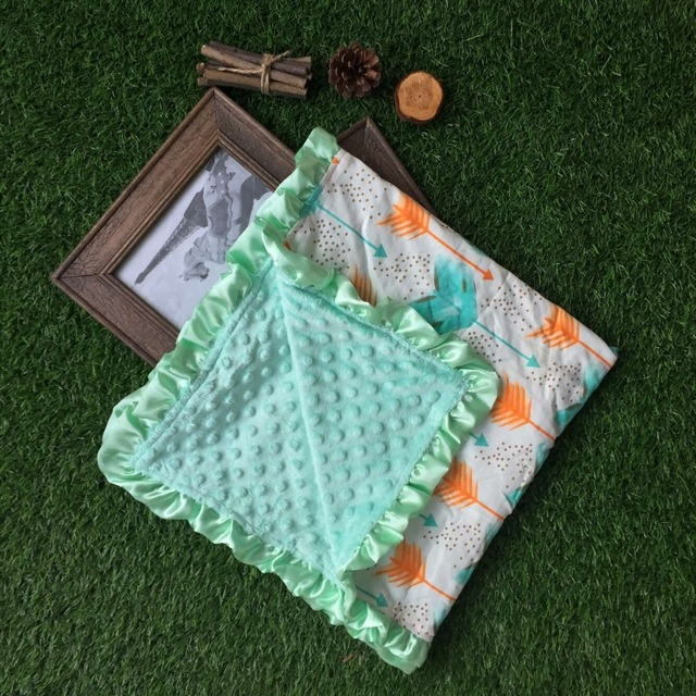 baby chevron minky blanket knitting shower gift baby cotton blanket minky feather baby super soft blanket manufacturer china