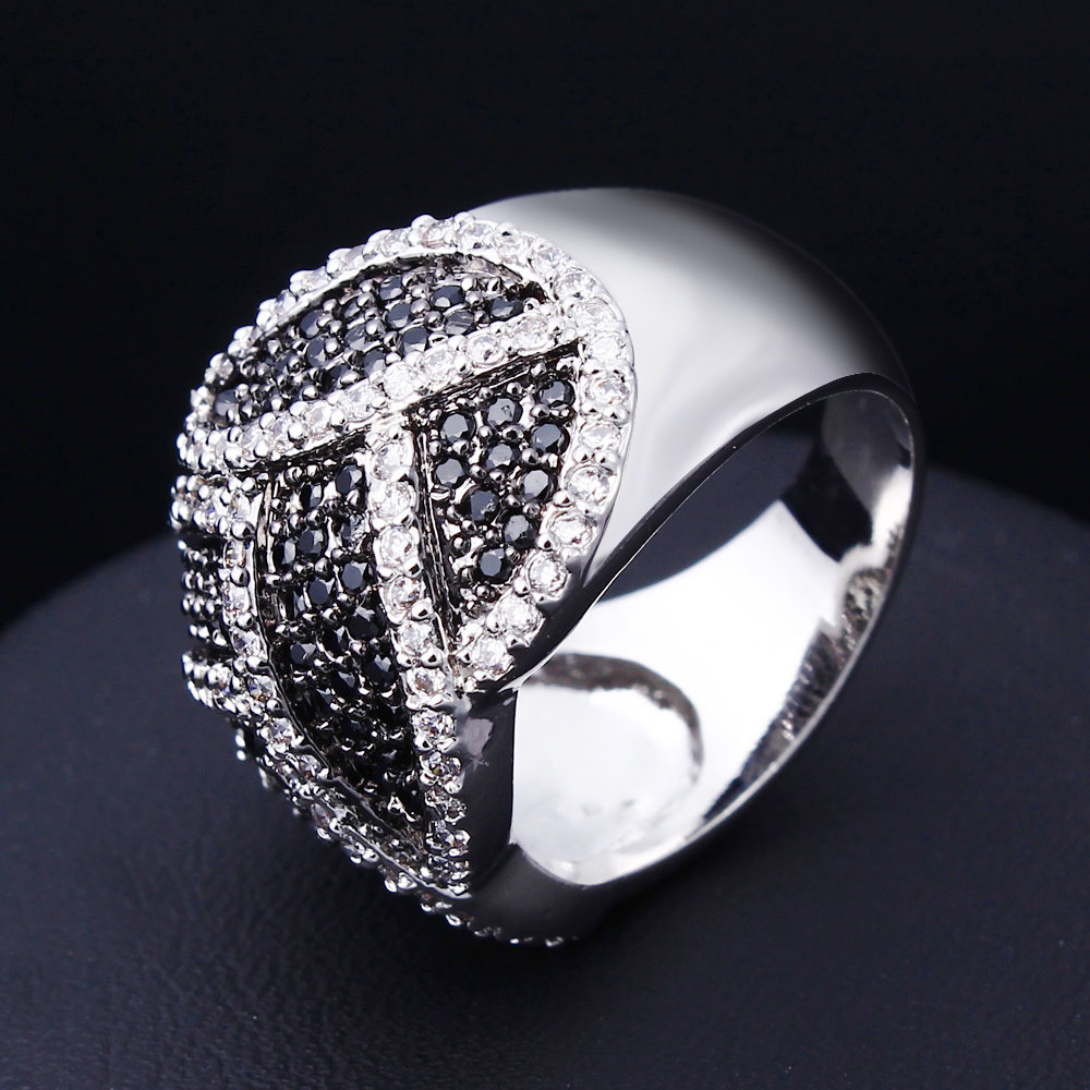 rings elegant item fashion jewelery setting pave jewelry white black jewellery party zirconia ring gorgeous hot cocktail in real l y from cubic cz