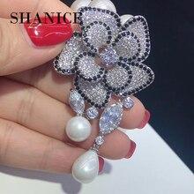 SHANICE 1 шт. Большой элегантный цветок ожерелье кулон браслет соединитель медальон микро проложили CZ кисточки DIY Изготовление ювелирных аксессуаров