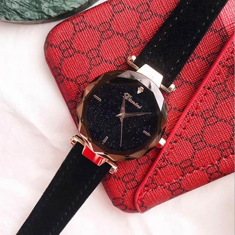 2018 Top-Qualität Luxus Dame Kristall Uhr Frauen Diamant Kleid Uhr - Damenuhren