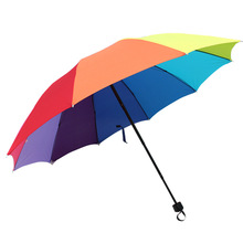 New large Sun Umbrella Folding Protection UV Men and Women Simple fashion Lovers umbrella