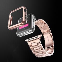 Ультратонкий полный Экран Защитная крышка PC чехол для Apple Watch Series 1 2 38/42 мм