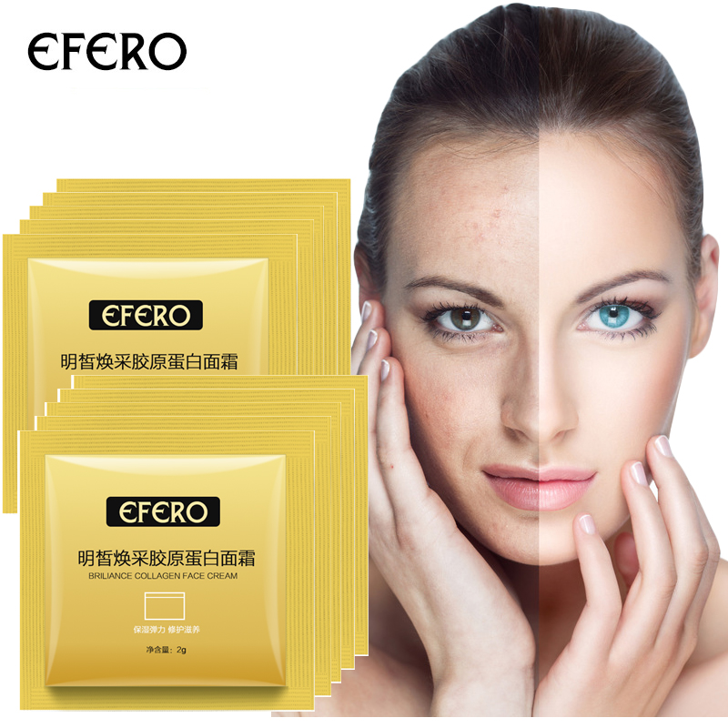 5 10 15pcs Travel Refill Collagen Face Cream Repair Nourishing Day Cream Moisture Anti Wrinkle Cream Skin Care Whitening Cream in Facial Self Tanners Bronzers from Beauty Health