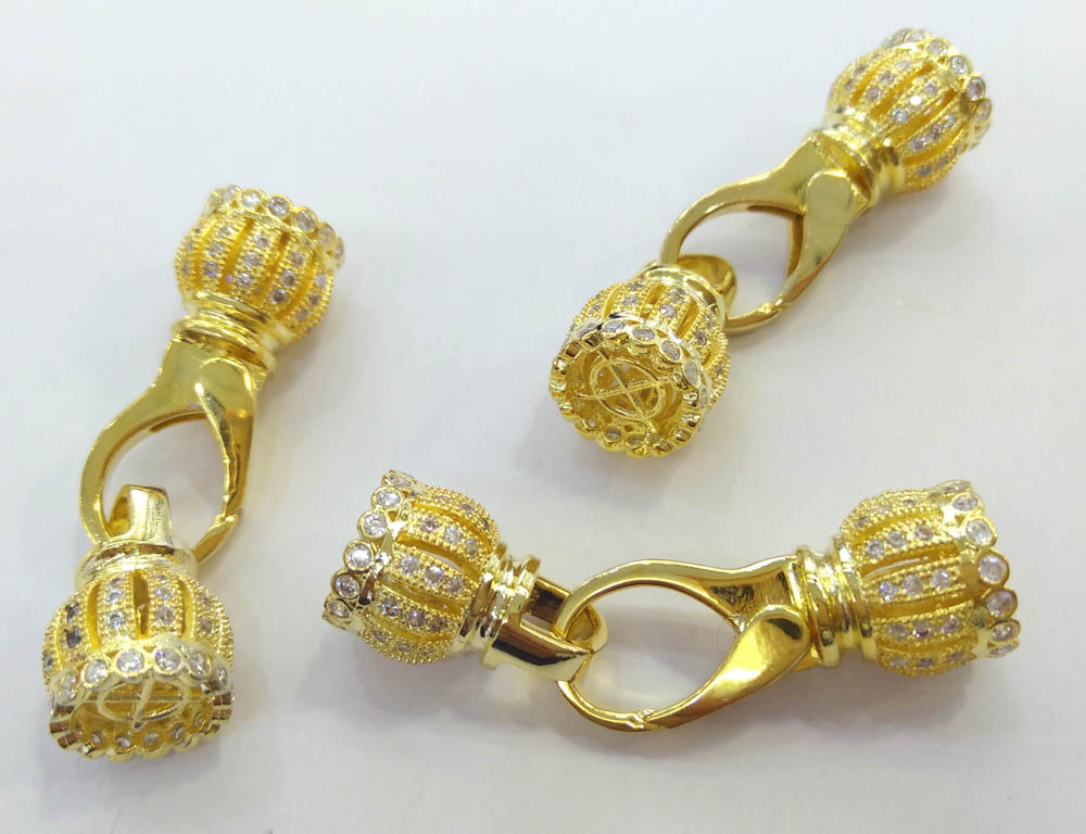 Bulk WHOLESALE, 6sets- Double Crown Clasp, Pave Lobster, Pave Clasp Buckle Micro paved , CZ Micro Pave Clasp FastenerBulk WHOLESALE, 6sets- Double Crown Clasp, Pave Lobster, Pave Clasp Buckle Micro paved , CZ Micro Pave Clasp Fastener