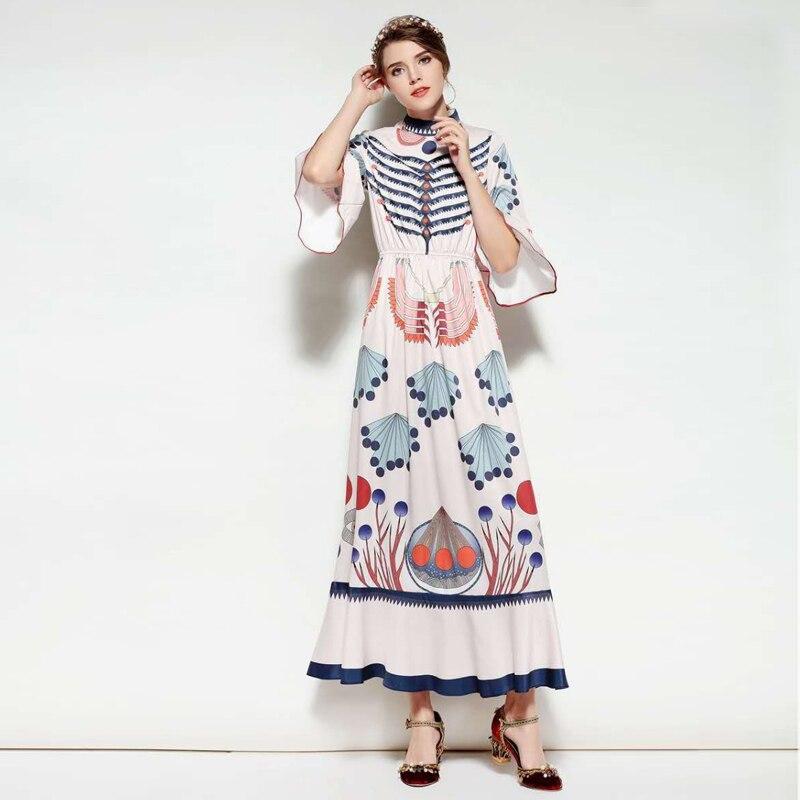 В сезон весна лето, новинка и классные светлые тона новый стиль и классные светлые цвета носят с высокой талией платье. - 2