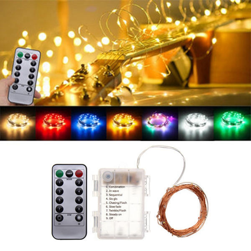 Led Fairy Lights Battery Operated LED Lights Decoration 8 Mode Timer String Copper Wire Waterproof Remote Control for holidaysLed Fairy Lights Battery Operated LED Lights Decoration 8 Mode Timer String Copper Wire Waterproof Remote Control for holidays