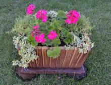 5 teile/los formen für beton pflanzer dekorative blume garden old bord pflanztopf diy garten decor für blumen
