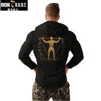 2017 Newest Fitness Men Gyms Hoodies Sweatshirt Bodybuilding Hoody Zipper Casual Sweatshirt Men S Slim Fit