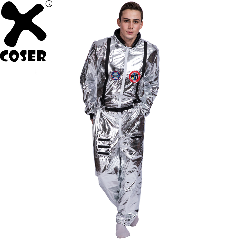 XCOSER 2018 New Arrival Astronaut Space Jumpsuit Suit Costume Halloween Stage Performance Cosplay Costume For Men Women