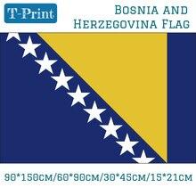 National Flag Of Bosnia And Herzegovina 90*150cm 60*90cm 15*21cm 30*45cm Car For Event / Office Home Decoration