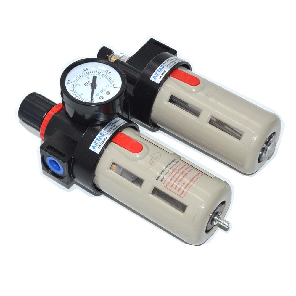 BFC-2000 / 3000/ 4000 Air Filter Regulator Lubricator Combinations BSP 1/4 3/8 1/2 1pcs bl 3000 bsp 3 8 adjustable pressure air pneumatic lubricator brand new