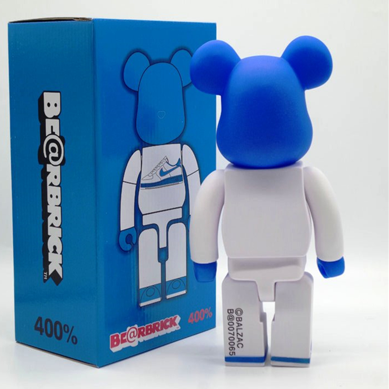 11 Inches Be@rbrick 400% Gloomy Bearbrick Nike Sneakers Peko PVCAction Figure Collectible Model Toy D172 400% be rbrick 11 inch bearbrick lucy pvc action figure medicom toy figure toy brinquedos anime
