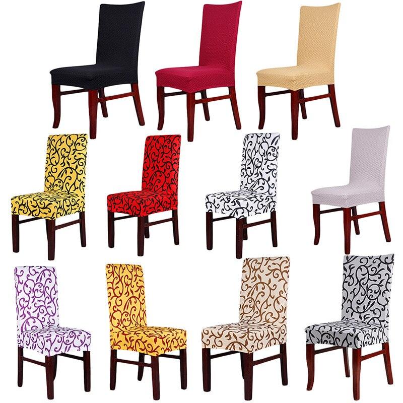⊱11 colores estiramiento comedor Fundas para sillas máquina lavable ...
