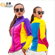 2018 Women Softshell Jacket Spring Coat Windproof Camping Riding Climbing Thicken Running Sport Clothing Outdoor Female