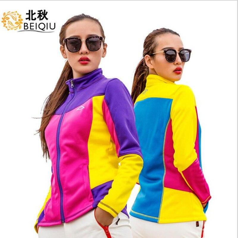 2018 mujeres chaqueta Softshell primavera viento Camping equitación escalada espesar deporte ropa al aire libre desgaste femenino