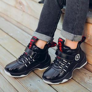 Image 5 - Winter Jongens Laarzen Kinderen Schoenen Kinderen Laarzen Mode Outdoor Martin Laarzen Pluche Warm Enkel Casual Sneakers Rubber Bottom