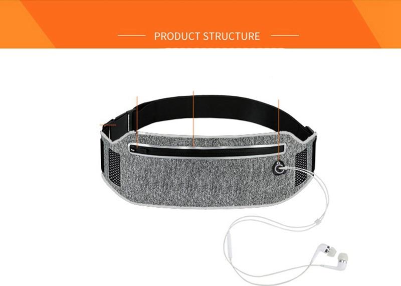 Professional Running Waist Pouch Belt Sport Belt Mobile Phone Men Women With Hidden Pouch Gym Bags Running Belt Waist Pack (12)