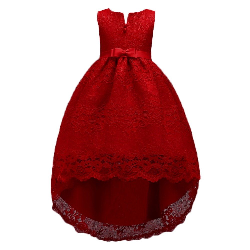 ᑐ2018 Baby Girls Party Dress Evening Wear Long Tail Girls Clothes ...