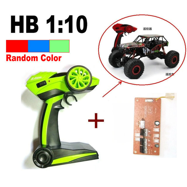Remote Control And Receiver For 1:10 HB P1001/1002/1003 RC Car 2.4G Rock Crawler Car 4 WD Monster Truck (Random Color)