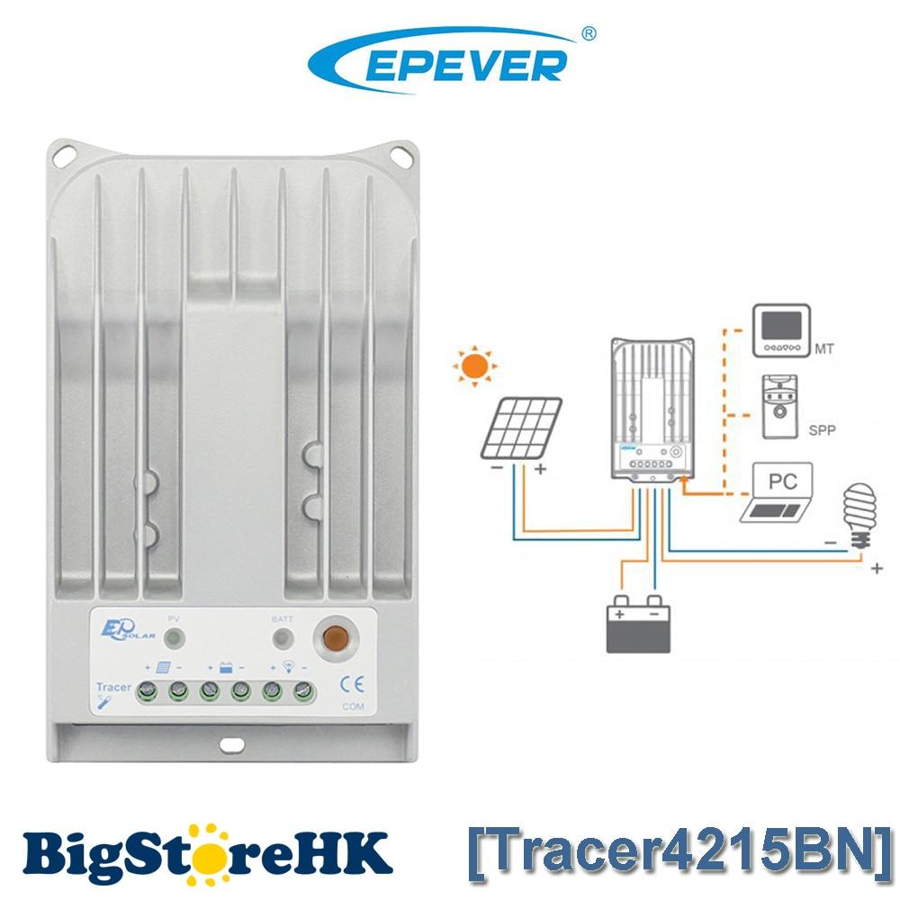 MPPT 40A Solar Charge Controller 1000W 24V Solar Panel System EPSOLAR Charge Mode MPPT for Light Solar Regulator TRACER4215BN epsolar mppt tracer4215bn 40a 40amp solar controller with mt50 usb and sensor