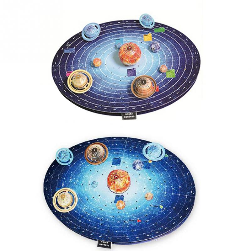 Solar System Nine Planets Learning 3D DIY Puzzle Model Children Educational Toy Model Building Kits