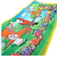 HOT Hot Enfants Bébé Zoo Animaux Musicale Tactile Lecture Chant Tapis Mat Toy SEPTEMBRE 02