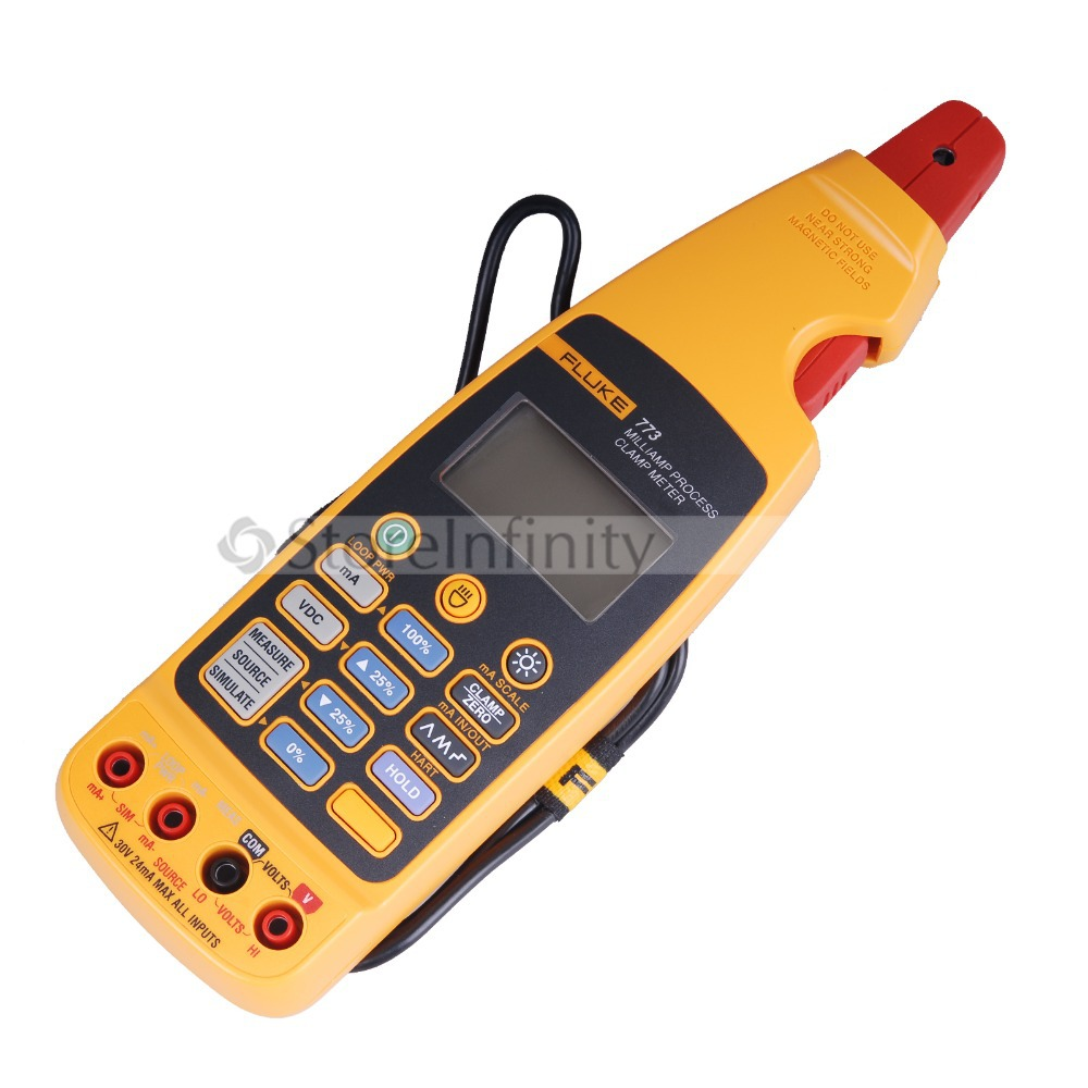 Fluke 773 Milliamp Process Clamp Meter DMM Volt Test Multimetro