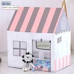 Akitoo персик замша картина маслом дети принцесса палатка крытый морской мяч игра игрушка дом складной маленький дом подарок #157
