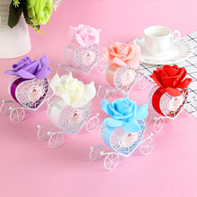 Candy box Favours Birthday Party decoration,Wedding decoration Heart Carriage  Metal Chocolate Box, Gift Sweet Love