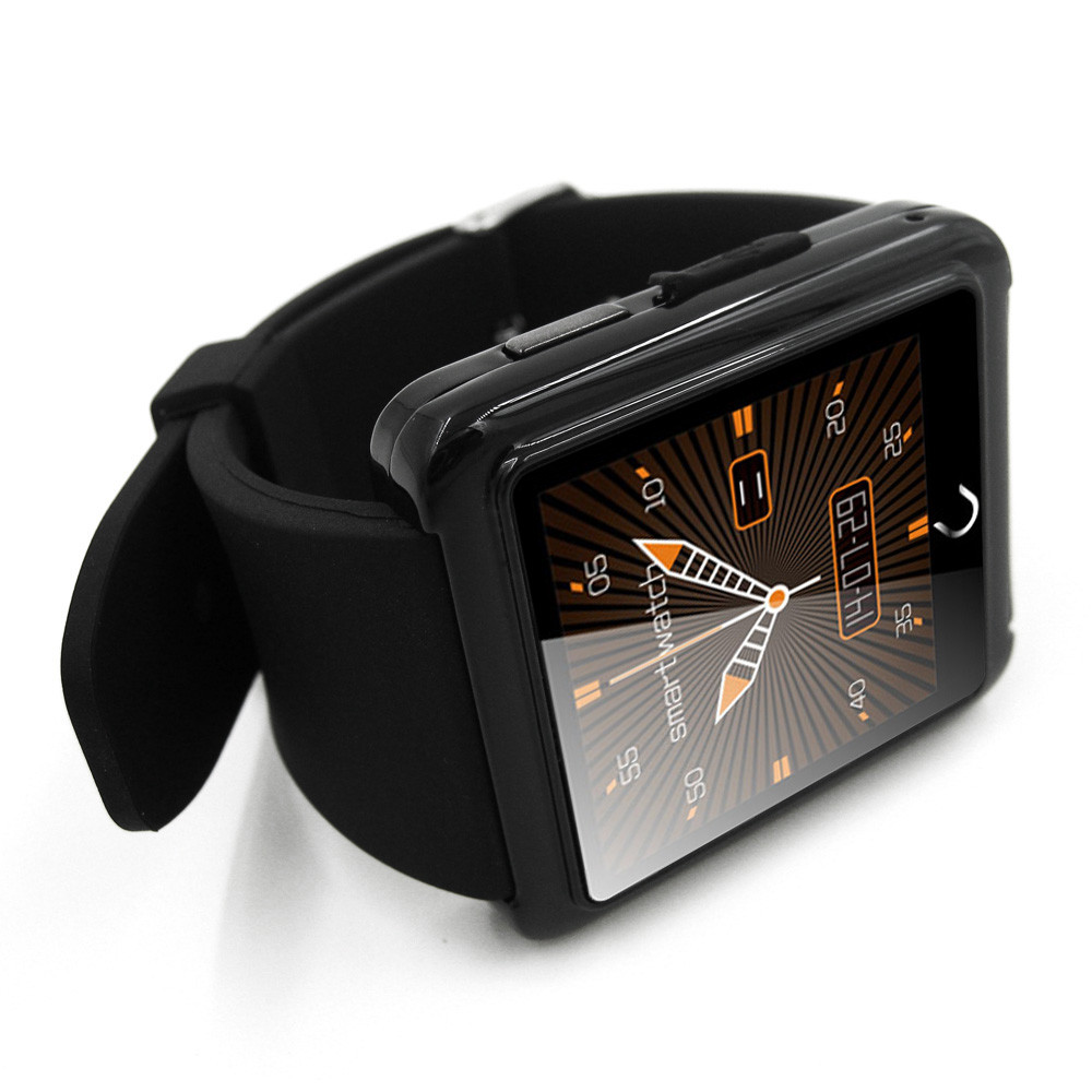 Smart Watch Android Reloj Inteligente Wearable Devices Sleep Tracker Leather Sync Android font b Smartwatch b