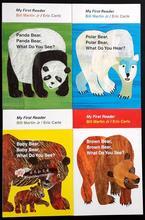 4PCS Inglês livro para crianças Meu Primeiro Leitor Mini Biblioteca: Urso Pardo, Urso Marrom, o que Você Vê? Educacional livro popular
