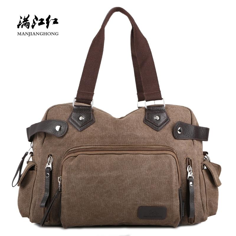 23a2b36c4c Large Capacity Vintage Men Shoulder Travel Bag Canvas Casual Tote Travel  Bag Men Luggage Leisure Travel