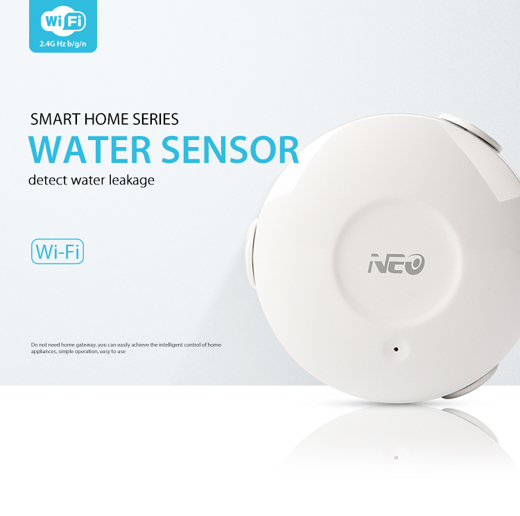 NEO COOLCAM Wifi Smart Leakage Sensor Water Detector No HUB Required Smart Home Automation Modules Works Google Home Alexa