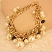 Exagerado declaración bib layered gran cadena chunky collar, collar de perlas/nueva corea joyería de lujo/maxi colar/collier/collar
