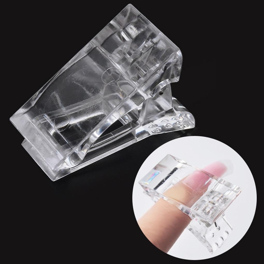 5Pcs/set 2019 Hot Nail Tips Clip Quick Building Poly UV Builder Gel Assistant Tool DIY Manicure Plastic Extension Clamp