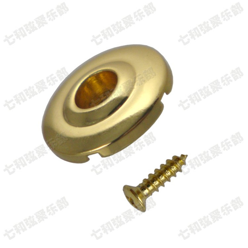 2 Pcs Gold Bass Guitar String Tree Retainers