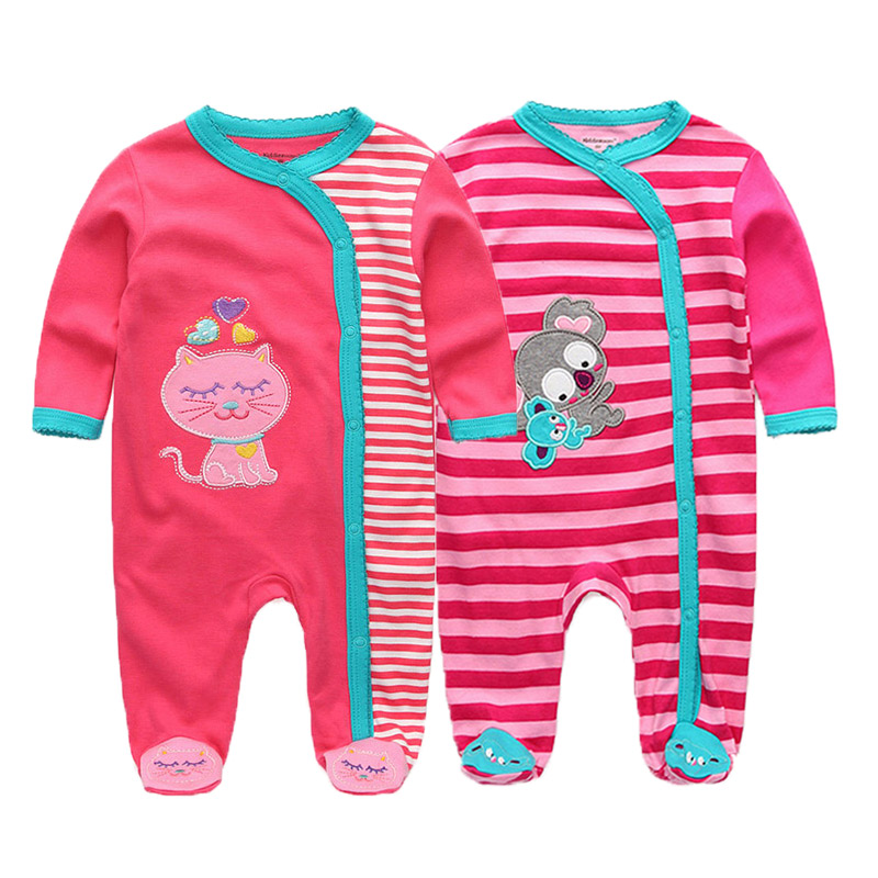 Image 5 - 2 PCS/lot newborn long sleeve winter baby rompers jumpsuit 2019 baby rompertjes cotton ropa bebe baby boy girl clothesRompers   -