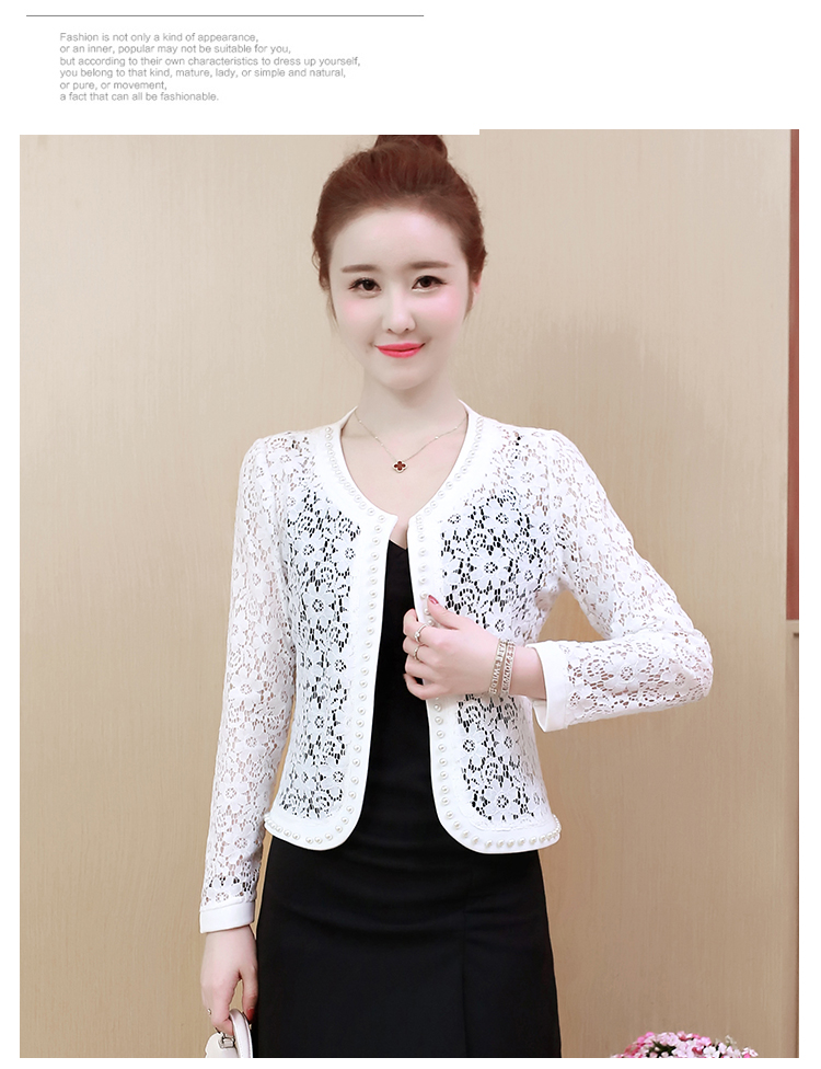 HTB1UNq2S7voK1RjSZFDq6xY3pXae - Women Jacket Long Sleeve black hollow lace jacket women fashion women's jackets women coats and jackets women clothing B239