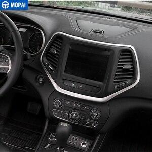 Image 3 - MOPAI ABS Автомобильная внутренняя панель навигационная панель GPS декоративная рамка наклейки для Jeep Cherokee 2014 Автомобильный Стайлинг