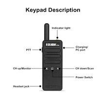 שתי דרך רדיו 2W מיני UHF עמיד שתי דרך רדיו כיס גודל Kids מכשיר קשר T-M3 הצבע Woki טוקי Henglida (4)