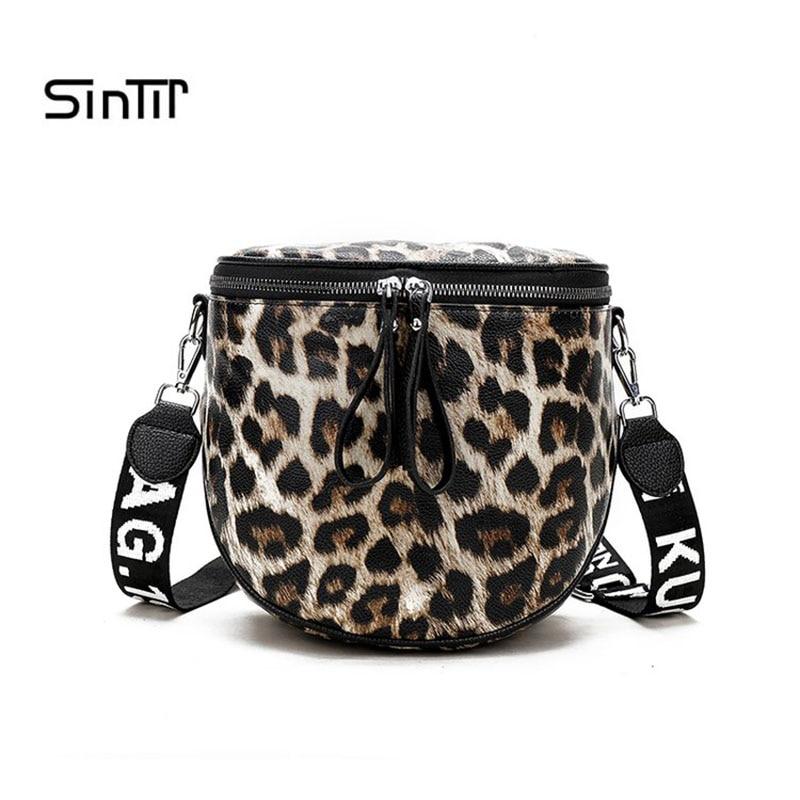 SINTIR Fashion Leopard Zebra Pattern Crossbody Bag High Quality Leather Women Bucket Shoulder Bag Messenger Bag Bolsas Feminina