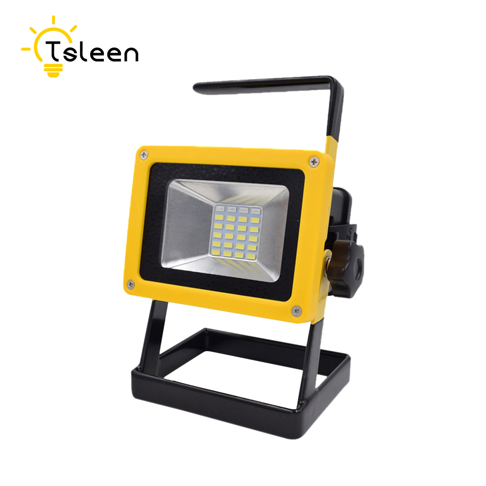 Stalwart Large 60 Led Rechargeable Work Light: TSLEEN Waterproof 30W LED Flood Light Portable SpotLight