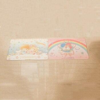 1 шт. новая моя мелодия маленькая Две звезды hello kitty Cinnamoroll пудинг собака плюшевый коврик мультфильм коврик для ног дверной коврик ковер плюше...