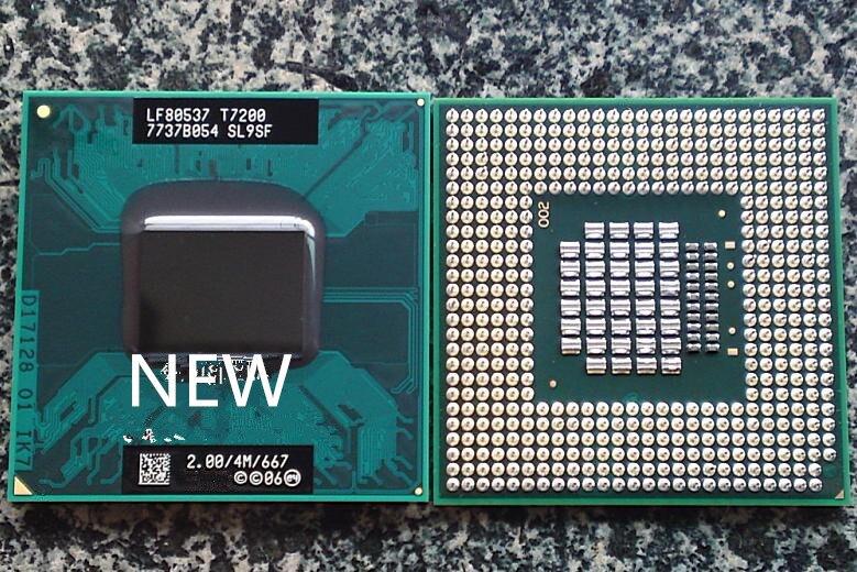 T7200 CPU 7200 SL9SF 4M Socket 479 Cache 2 0GHz 667 Dual Core Laptop processor PGA