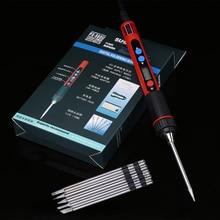 נייד 5 V 10 W דיגיטלי LCD USB מלחם מתכוונן טמפרטורת הלחמה ברזל Soldeerbout ברזלי Solda BGA ריתוך כלים