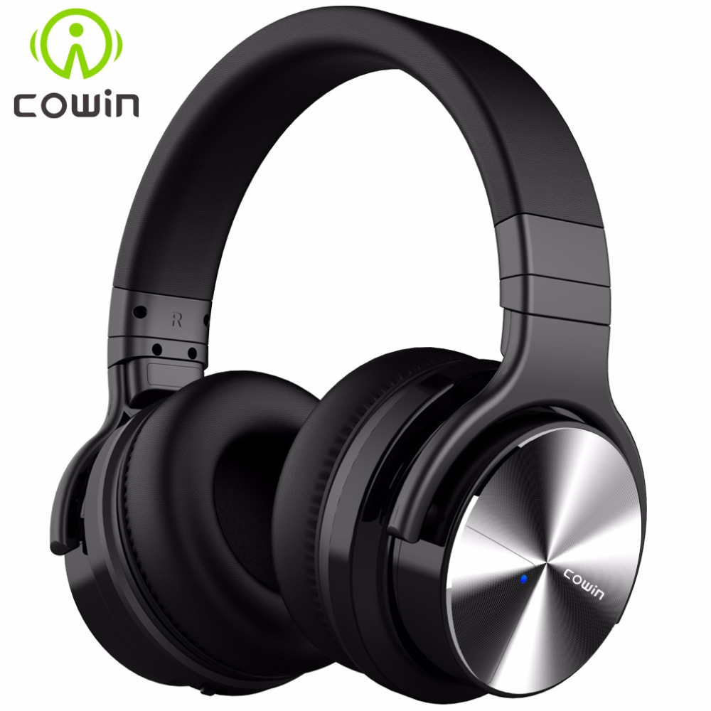 Cowin E7Pro Active Noise Cancelling Bluetooth Headphones Wireless Over Ear Stereo Headset with microphone for phone 2016 noise cancelling wireless sleep headphones stereo 2 4ghz bluetooth headset for listenting music answering phone eye mask