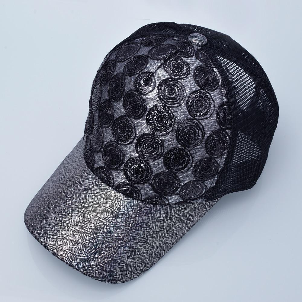 Qızın Günəş Qapağı Snapback Parıldayan Hip Hop Trucker Şapka - Geyim aksesuarları - Fotoqrafiya 4