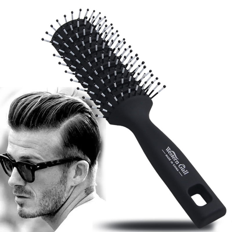 Men styling hair brush ribs comb anti-static salon dedicated curly hair comb hairdressin ...
