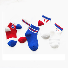 MAINEOUTH 5 Paare / Los 2-15 Jahre NEUES Frühlings-Sommer-kühle Maschen-Socke-Baby-Jungen-Sport-Socken-Kind-Kind-Baumwollweiche kurze Socken