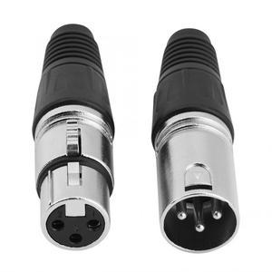 Image 4 - 5 זוגות של תקע זכר + נקבה ג ק 3 פין XLR מיקרופון כבל מיקרופון מתאם ממיר XLR אודיו כבל מחבר